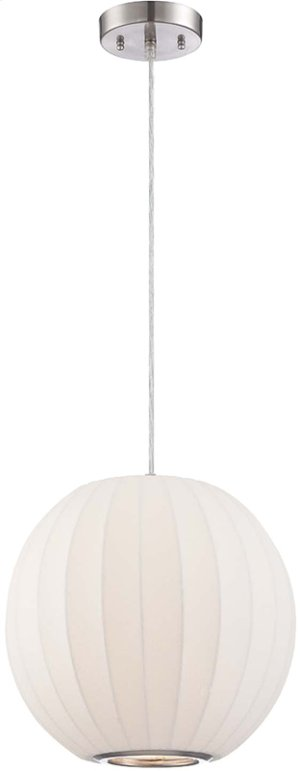 Pendant Lamp, White Polyresin Foam Shade, E27 Type A 60w