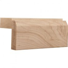 """2-1/8"""" x 2"""" """"Shaker"""" Style Light Rail Moulding with Beveled Edge, Species Cherry Priced by the linear foot and sold in 8' sticks in carton quantities of 64'."""