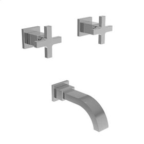 Uncoated Polished Brass - Living Wall Mount Tub Faucet