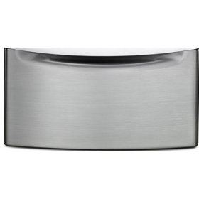 """15.5"""" Pedestal for Front Load Washer and Dryer with Storage - stainless steel"""
