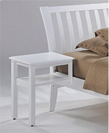 Clove Hook-on Nightstand in White Finish