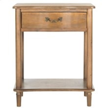 Samson Accent Table With Storage Drawer - Antique Brown