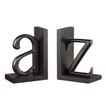 A to Z Bookend Pair