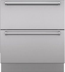 """Integrated Stainless Steel 30"""" Drawer Panels with Pro Handles"""