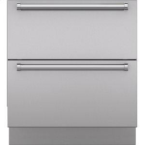 "SubzeroIntegrated Stainless Steel 30"" Drawer Panels with Pro Handles"