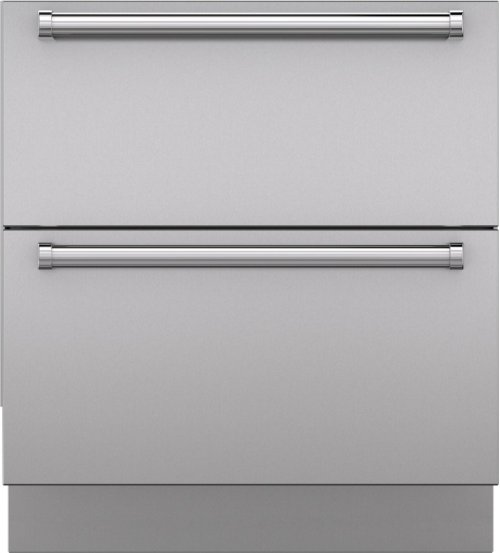 "Integrated Stainless Steel 30"" Drawer Panels with Pro Handles"