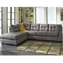 Benchcraft Maier Sectional with Left Side Facing Chaise in Charcoal Microfiber [FBC-2349LFSEC-CRC-GG]