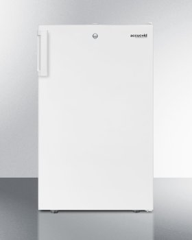 """20"""" Wide Counter Height All-refrigerator for General Purpose Use, Auto Defrost With A Lock and White Exterior"""