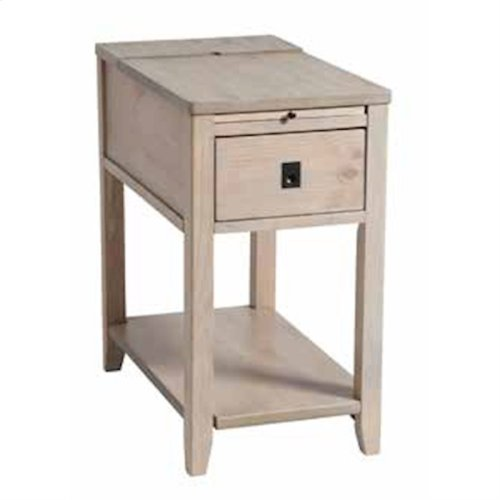 Patton 1-drawer Chairsider In Driftwood Finish