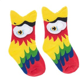Red Parrot Big Mouth Socks - Youth Shoe Size 8-13