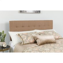 Bedford Tufted Upholstered Queen Size Headboard in Camel Fabric