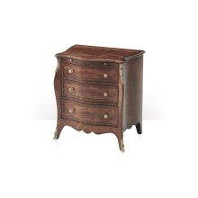 Henry Hill Brass Mounted Nightstand - With Brass Mounts