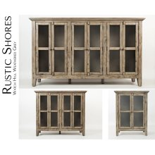 "Rustic Shores Watch Hill Weathered Grey 32"" Accent Cabinet"