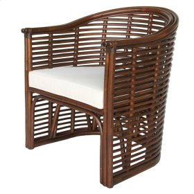 Knox Rattan Tub Chair, Earth Tone Brown