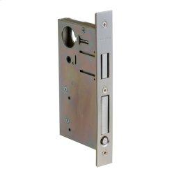 Satin Nickel 8632 Pocket Door Lock with Pull