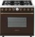 Additional Range DECO 36'' Classic Brown matte, Bronze 6 gas, electric oven, self-clean