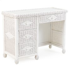 Wicker 4 Drawer Desk Cotton 3797