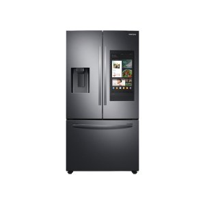 Samsung26.5 cu. ft. Large Capacity 3-Door French Door Refrigerator with Family Hub™ and External Water & Ice Dispenser in Black Stainless Steel