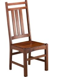 Mission Slat Side Chair w/ Wood Seat