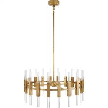 Visual Comfort S5143HAB-CA Ian K. Fowler Palomar 40 Light 34 inch Hand-Rubbed Antique Brass Rotating Chandelier Ceiling Light, Small