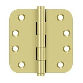 "4""x 4""x 5/8"" Radius Hinges - Polished Brass"