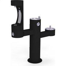 Elkay Outdoor EZH2O Bottle Filling Station Tri-Level Pedestal, Non-Filtered Non-Refrigerated Black