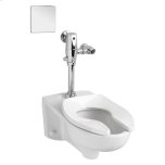 American StandardAfwall 1.6 gpf Toilet with Selectronic Exposed AC Flush Valve System - White