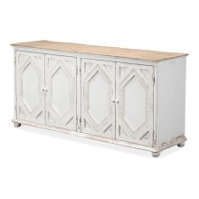 Four Diamonds Sideboard, Ant. White