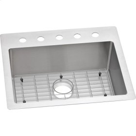 "Elkay Crosstown Stainless Steel 25"" x 22"" x 9"", Single Bowl Dual Mount Sink Kit"