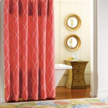Calypso Shower Curtain, RED, ONE
