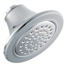 "Moen chrome one-function 5-7/8"" diameter spray head eco-performance showerhead"