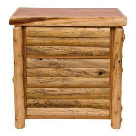 Log Front Three Drawer Chest - Natural Cedar - Log Front - Premium