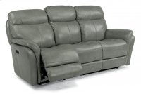 Zoey Leather Power Reclining Sofa with Power Headrests Product Image