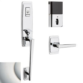 Polished Nickel with Lifetime Finish Evolved Palm Springs 3/4 Escutcheon Handleset