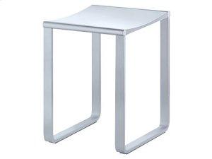 Bathroom stool - chrome-plated/dark grey (RAL 7021) Product Image