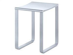 Bathroom stool - chrome-plated/dark grey (RAL 7021) Product Image