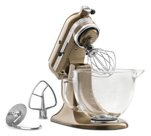 Artisan® Design Series 5 Quart Tilt-Head Stand Mixer with Glass Bowl - Toffee