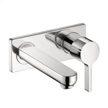 Chrome Wall-Mounted Single-Handle Faucet Trim, 1.2 GPM