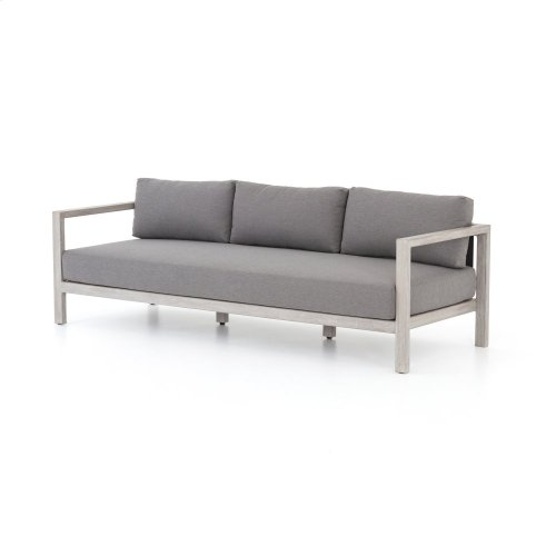 "88"" Size Charcoal Cover Sonoma Outdoor Sofa, Weathered Grey"