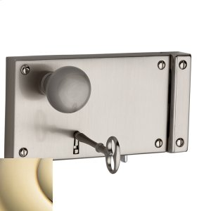 Lifetime Polished Brass 5634 Horizontal Rim Lock Product Image