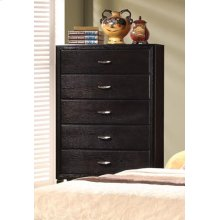 Nacey Dark Brown Five-drawer Chest