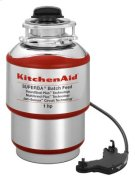 1-Horsepower Batch Feed Food Waste Disposer - Red Product Image