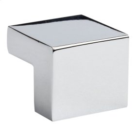 Small Square Knob 5/8 Inch (c-c) - Polished Chrome