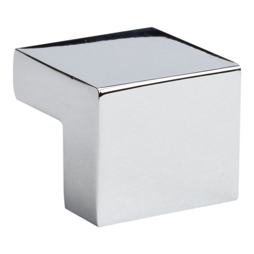 Small Square Knob 5/8 Inch (c-c) - Polished Chrome