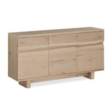 White Oil Live Edge Sideboard Wooden Base