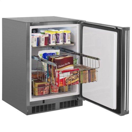 """24"""" Marvel Outdoor All Freezer - Solid Stainless Steel Door with Lock, Left Hinge"""