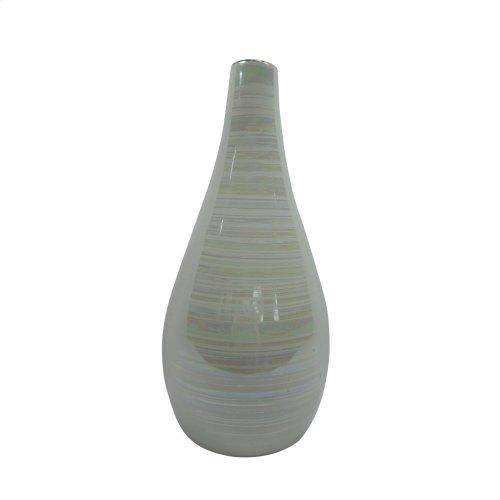 """Ceramic 11.75"""" Vase, Multi"""