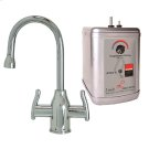Francis Anthony Collection - Hot & Cold Water Faucet with Modern Curved Body & Handles & Little Gourmet® Premium Hot Water Tank - Polished Chrome Product Image