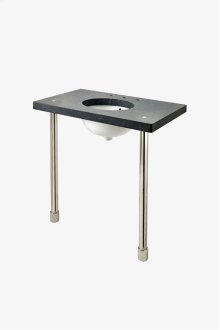 """Opus Metal Round Single Two Leg Washstand 2 1/2"""" x 2 1/2"""" x 32 1/4"""" STYLE: OPWS02"""