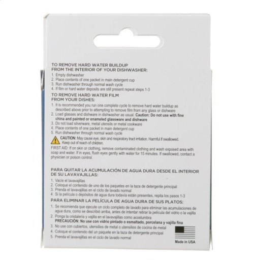 Dishwasher Cleanser - 2 Uses